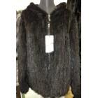 Куртка из вязаной норки с капюшоном (шубка)